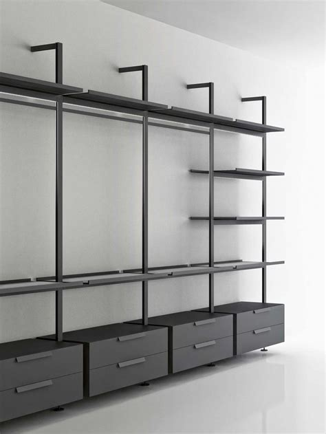 Shelving And Storage Systems by Structure Of Book Made Of Aluminium Uprights From