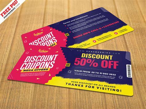 Free Discount Coupon Template PSD - Download PSD