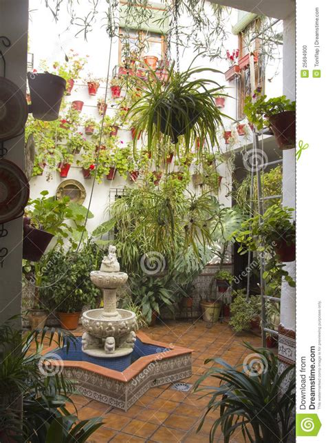 andalusian patio stock photo image  interior growing