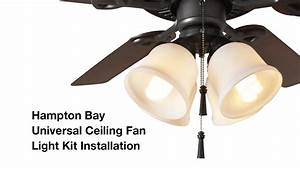 How to install the hampton bay light universal ceiling fan kit