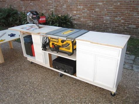 portable miter  table   kitchen cabinets
