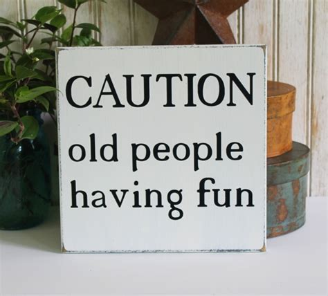 caution  people  fun handcrafted sign home decor