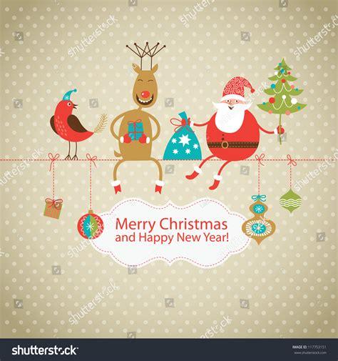 Santa Claus Card By Benchart Vectors Eps Greeting Card Card Santa Claus Stock Vector