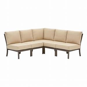 outdoor sectional sofa lowes home the honoroak With garden treasures palm city 5 piece sectional sofa