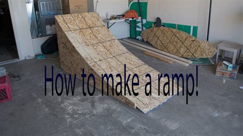 diy   build  wooden bmxmtbbike ramp youtube