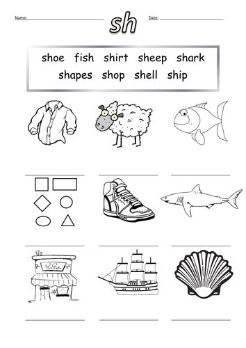 sh words worksheet sh by barang teaching resources