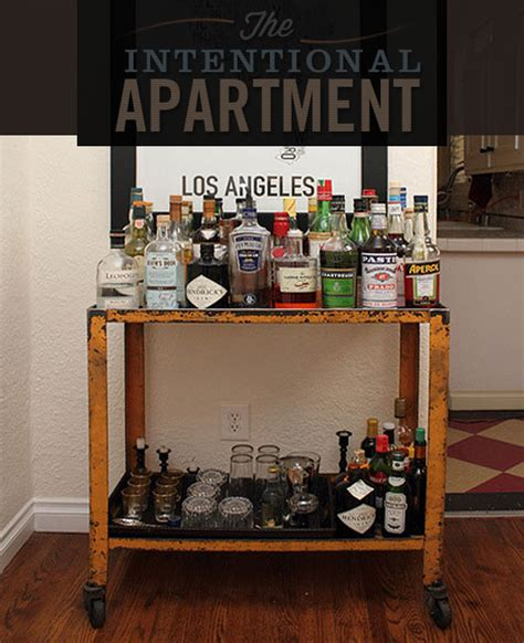 intentional apartment assembling  perfect bar cart