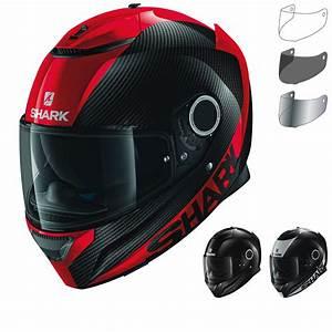 Shark Spartan Carbon Shark Spartan Carbon Red Helmet Motocard