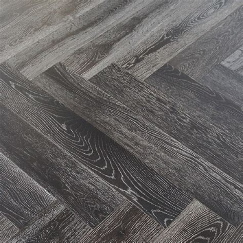 MAXI HERRINGBONE OAK SMOKED BRUSHED GREY OILED ENGINEERED