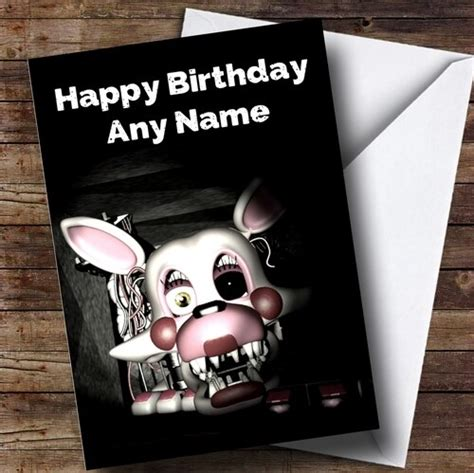 Shopping for someone else but not sure what to give them? Personalised Fnaf Five Nights At Freddy's Mangle Children's Birthday Card - The Card Zoo