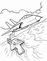 Coloring Pages Military Print Avion sketch template