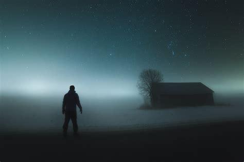 Dramatisk Nattehimmel Er Månedens Bilde Digitalfotono