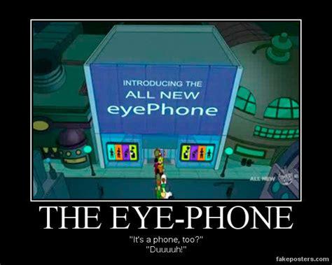 find my eye phone futurama eye phone