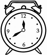 Clock Alarm Coloring Pages sketch template
