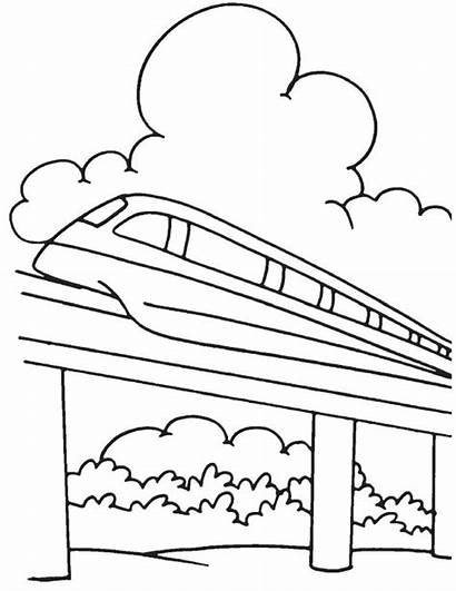 Monorail Pages Coloring Template