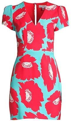 Coral Floral Print Dress | Shop the world's largest ...