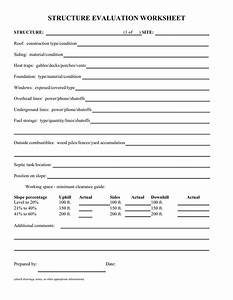 Structure Evaluation Worksheet In Word And Pdf Formats
