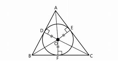 Triangle Radius Circle Inscribed Corners Incircle Segitiga