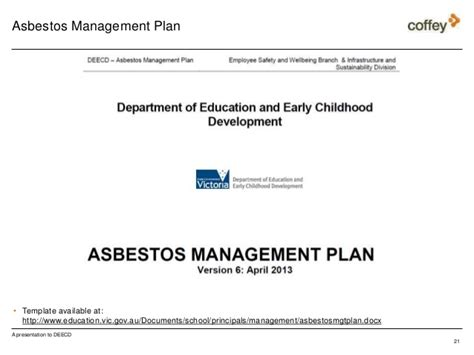 asbestos awareness training  schools  deecd