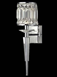 dale tiffany gw13384 cahas crystal wall sconce in chrome With kitchen cabinets lowes with crystal wall sconce candle holder