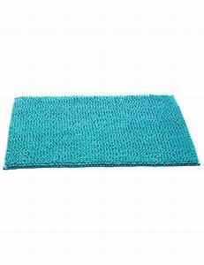 tapis de bain en eponge bouclee turquoise With tapis de bain eponge