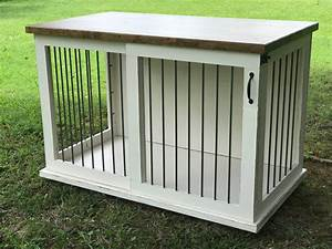 custom dog kennel dog crate furniture sliding door kennel With custom made dog kennels