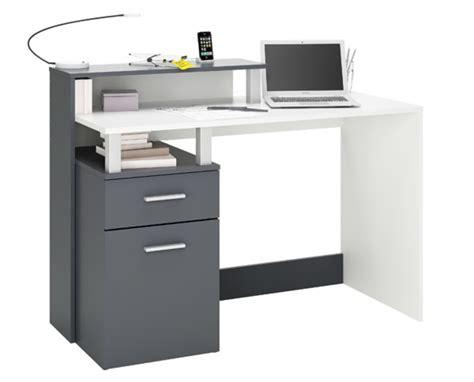 le de bureau fly bureau multimedia 1 porte 1 tiroir oracle blanc graphite