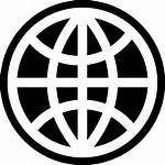 Icon Globe Sign Grid Outline Web Global