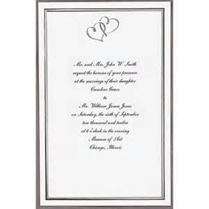 walmart wedding invitations kit wilton silver sweetheart invitations 50 count walmart