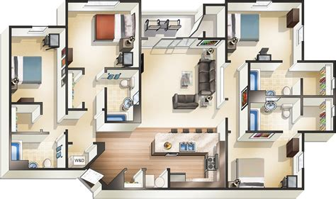two bedroom two bath house plans apartments in starkville ms the pointe at msu