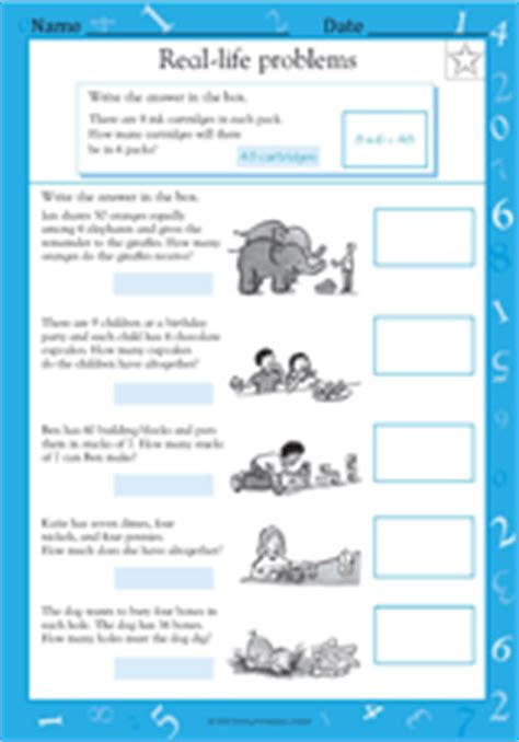 Halloween Multiplication Worksheets Grade 4 by Multiplication And Division Word Problems V Math
