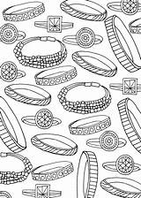 Coloring Jewelry Bracelet Bracelets Rings все раскраски из категории Clothing sketch template