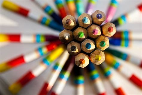 Colour Pencils-1   Patterned Pencils taken specially for a ...