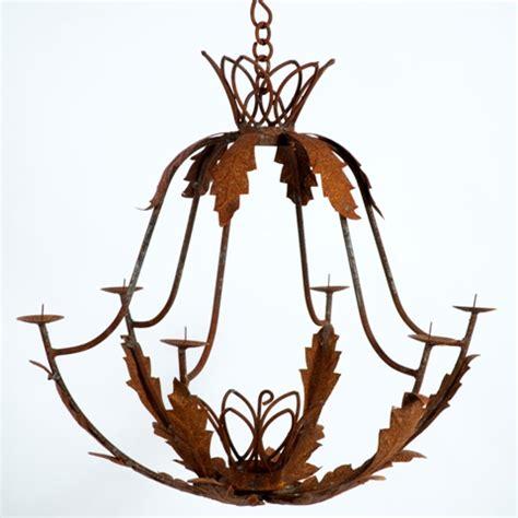 wrought iron tulip candle chandelier outdoor lighting