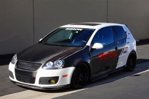 oem style carbon fiber hood    vw golf gti shaved