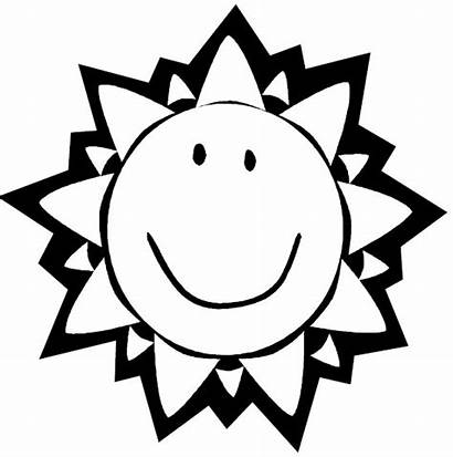 Sun Summer Coloring Pages Clip Printable Mr