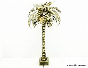 Extra large maison jansen palm tree floor lamp inside room for Large tree floor lamp