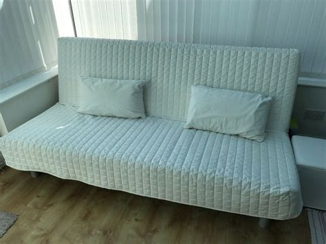Futon Sofa Bed Ikea by Futon Sofa Bed Ikea Beddinge White Quilted In Loughton