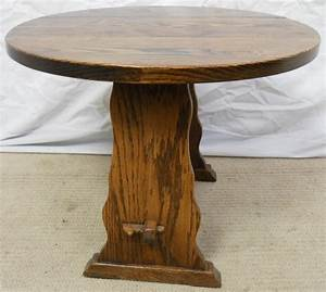 small round oak dropleaf coffee table With small round oak coffee table