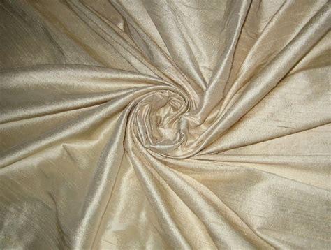 Pure Ivory Bridal % Dupioni Silk Fabric Yardage