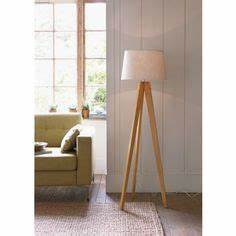 tripod floor lamp 179336 from homebase uk home With kitty wooden floor lamp