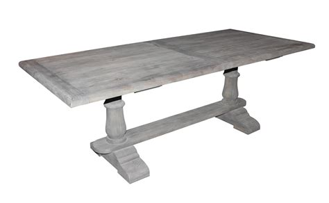 Tisch Holz Grau by Solid Wood Dining Table With Gray Washed Out Finish