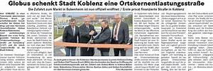 Globus Angebote Koblenz : stadt koblenz wurde von globus eine ortsentlastungsstra e geschenkt die erste ffentliche ~ Orissabook.com Haus und Dekorationen