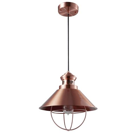 suspension industrielle cuivre 216 32 cm koya design