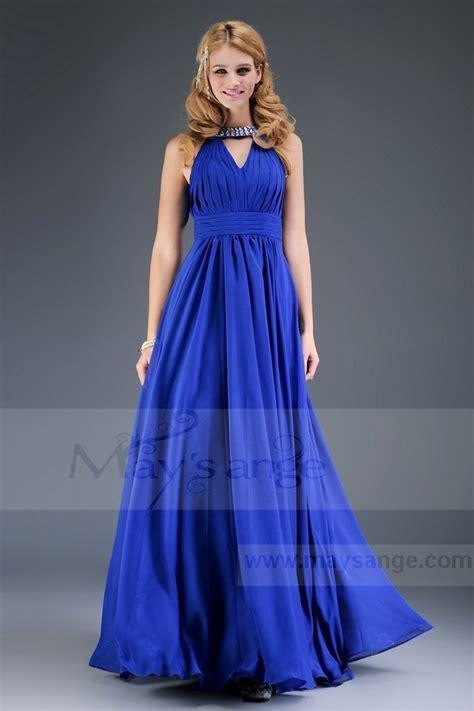 ch 234 tre robe de soir 233 pour mariage bleu collier ref