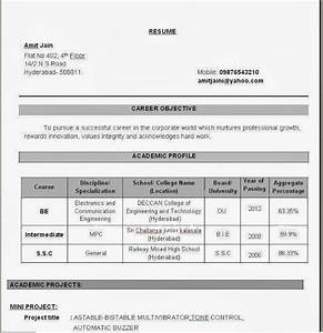 Sample resume for engineering students freshers resume for Online resume builder for freshers