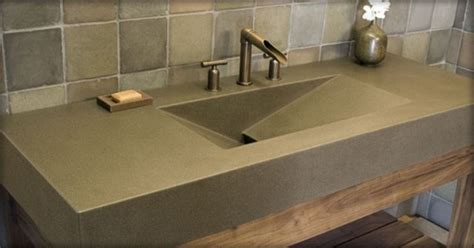 concrete countertop and sink polished concrete sink