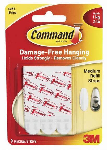 Command Strips Strip Medium 3m Refill Hanging