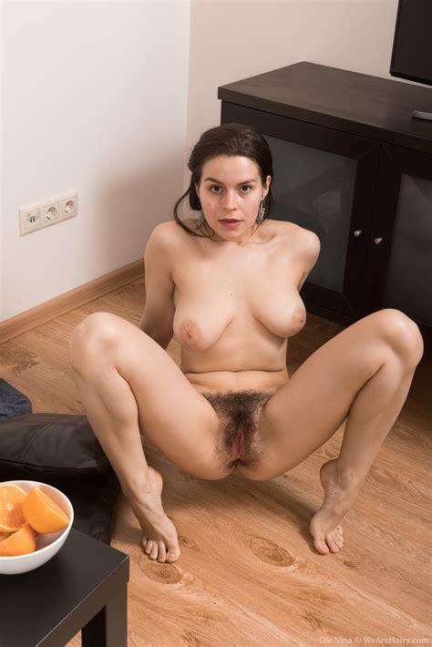 Ole Nina Strips Naked While Enjoying An Orange
