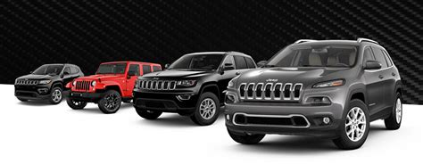 2018 Jeep Lineup by Compare The 2018 Jeep Lineup Buy A Jeep Suv In Vincennes In